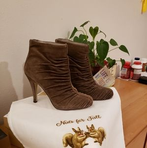 SUPER CUTE LEATHER SUEDE BOOTIES